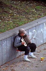 Boy and his harmonium