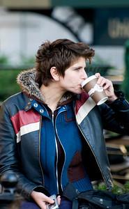 New York coffee drinker