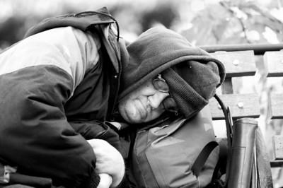 Homeless in the park