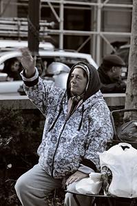 Panhandler in color