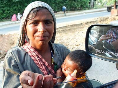 Beggar on the street.