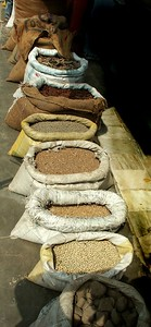 Variety of spices for sale.