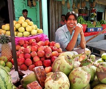 Merchants in the market street. Ferozpur, Punjab. North India.