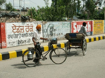 Along a street.  Ferozpur, Punjab. North India.