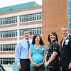 Globe/T. Rob Brown<br /> Faces of Recovery: (from left) Shawn Eck, I.T. security coordinator, Melissa Brumfield, pediatric physical therapist, Mary Lonon, director of OccuMed, and Shawn McGrew, director of service excellence, all with Freeman Health System.