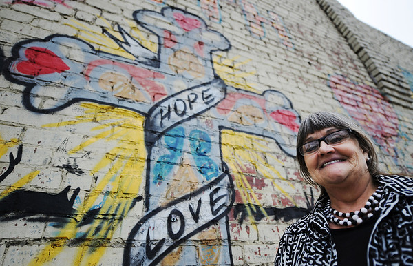 Globe/T. Rob Brown<br /> Faces of Recovery: Rebecca Williams, volunteer.