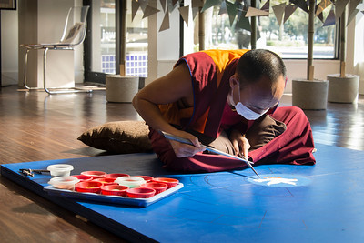 Monk of Drepung Gomang Monastery of the Sacred Art Tour Group