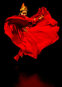 Chinese Dancer in Red