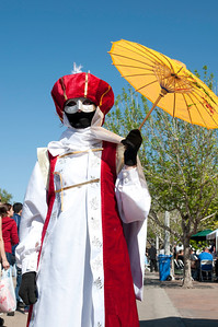 Yellow parasol with Anime Cosplay Costume