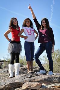 Girl fashion statement in the Desert.