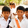 Handsome young school boys, Cambodia, December 2010.
