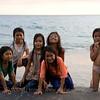 Girls enjoying sunset time on the beach in Mansit Village, Lombok, Indonesia