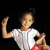Little girl posing at a classic dance school in Phnom Penh, Cambodia, December 2010.