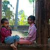 Sister and brother at Banteay Srei near Siem Reap, Cambodia, December 2010.