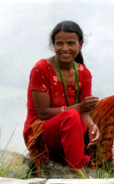 Woman at Sarangkot, Pokhara, Nepal