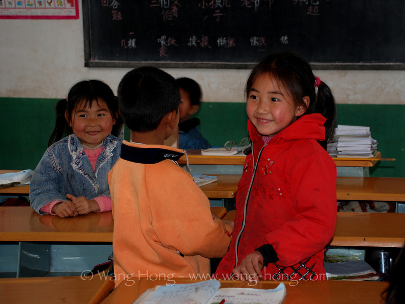 Sweet pupils at Binghui Hope School, Yunnan Province, China