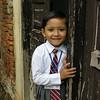 Little school girl in Kathmandu, Nepal
