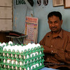 Man selling eggs near Victoria Station in Mumbai