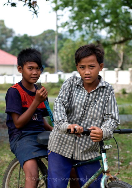 Boys on bike in Kep, southern Cambodia, December 2010.