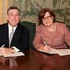 MU President Paul G. Gaffney, Brookdale CC President Dr. Maureen Murphy
