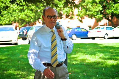 Out for a stroll across campus, Dr. Bonner has to constantly be aware of lurking paparazzi. #bonnerwatch