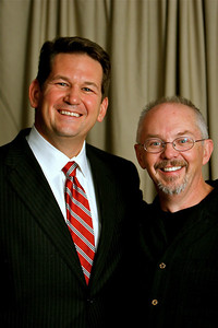 Paul Young with Greg Poe, Major Gifts Officer