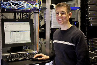 Photo of Josh for Tech Services website.