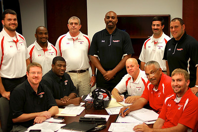 Football Head Coach Ron Dickerson Jr and Football Staff. August 2011.
