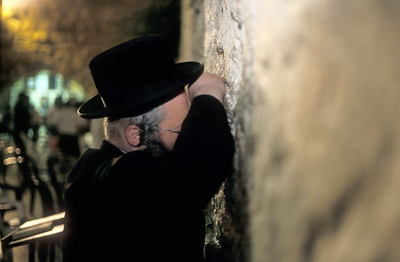Praing at the Wailing Wall, Jerusalem