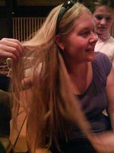 Stephanie's hair is played with by Eldridges