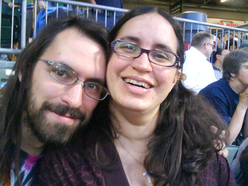 In New Hampshire, at a minor league baseball game with my sista