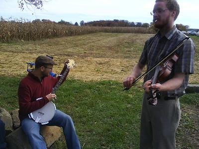 Tim Morton fiddles at the Eldridge farm near Orleans