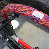 Bike rack cozies, Dunn street, Bloomington, IN