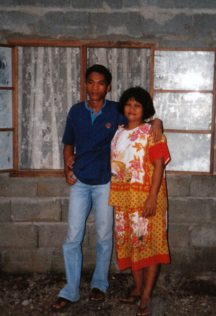 """<center> <font face=""""Myriad Pro""""><font size=""""+2""""><font color=""""66FFFF"""">My Kuya (cousin) Edwin and Ate (Aunt) Stella. </font></font size></center>"""