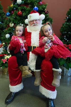 Twins and Santa