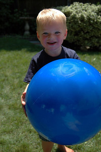 Boy With Blue Ball - Summer, 2009