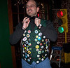 The vest is an inside joke as are the buttons and when mixed together it was doubly funny. Sad part is I really like it!