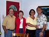 Mom, Eddie, Pastor Mike and Jenny for a going-away gathering and dinner. Late Summer 2003