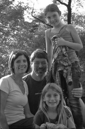 Cyndi, Jim, Hannah and Ava - Central Park, October 2011