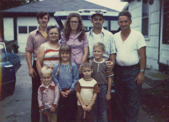 My parents, paternal grandparents, brothers, sister and me visiting family in New York in 1974 (74_grandparents_NY)
