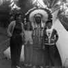 ANGELINE, LAURA JEAN, AND FRANK SOLIE WITH CHIEF MOON IN FACE.