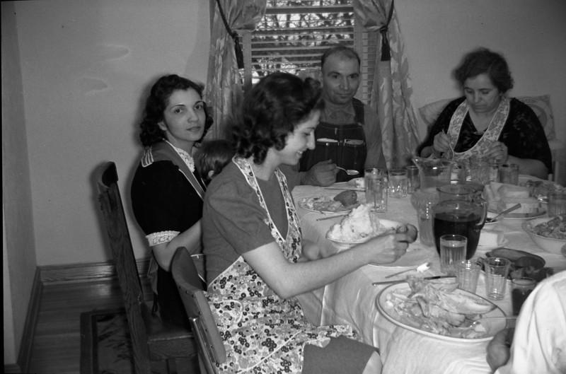 Ageline Solie, Mary Bottolene, Frank Natole, Genny Natole