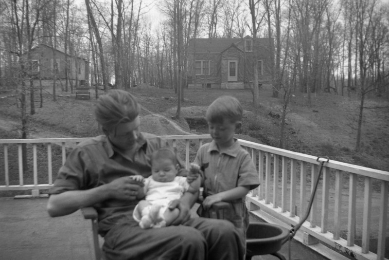 Lyle, Frank & Bill Solie @ Medicine Lake home