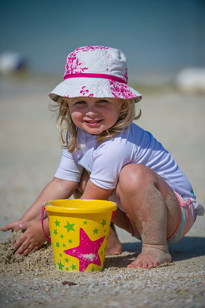 Belle at the beach.  <br /> <br /> Photo by: Stephen Hindley©