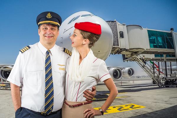 Emirates A380 Crew