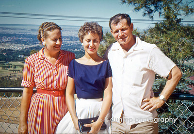 "05.24.13 = Flashback Friday - 1957 Family Treasure  I'm digging way back in the family archives today.  As I was searching for an image to use today, I came across this one of my mom with her mom and dad.   It was taken in the summer of 1957 in Colorado, not long after my parents were married.  I know it's not the best image; my mom and grandmother's eyes are closed or squinting, but on the other hand, it is the best image;  it's one of the only photographs I have of just the three of them together.  Over time it's not about having the best posed images of the people we love, it's about just having that image of them to look back and remember.  So this holiday weekend, photograph the ones you love and don't worry so much about  the technique but the unique moments that you capture.  In 56 years someone will treasure it!  ""Rejoice with your family in the beautiful land of life!""  Albert Einstein"