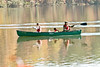 November 10, 2012-Peachtree City, GA-Scouts from several boy scout troops in Fayette County, GA come together for a canoe outing on Lake Peachtree.