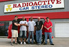 At Radioactive Stereo Car Shop in Riverdale, Georgia, having the new radio installed.