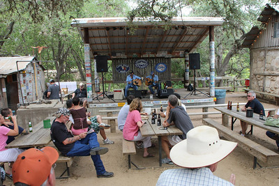 The Luckenbach web site said George Devore would be playing from 1-4 p.m.  When we got there these 2 fellows were playing.  I never did figure out if one of them was George or not but they sure were enjoyable to listen to.