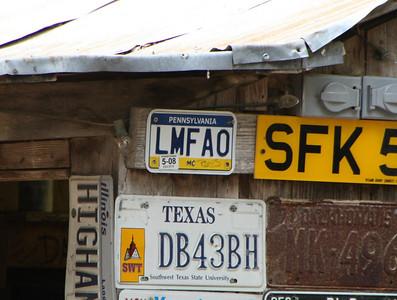 Some license plates I get.